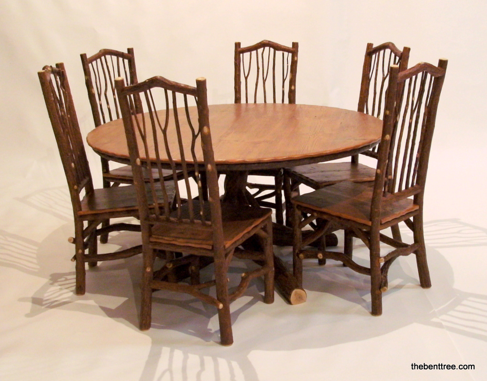 Round Dining Table with Taos Side Chairs