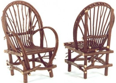 Fanback Arm Chair and Side Chair