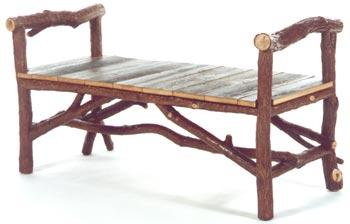 Backwoods Bench with Barn Wood Seat