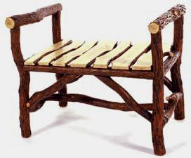 Backwoods Bench with Willow Slat Seat