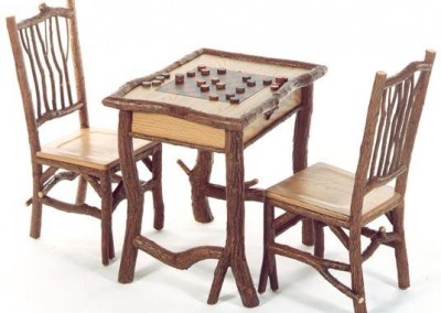 Backwoods Game Table and Taos Side Chair