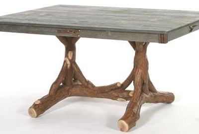 Trestle Dining Table with Barn Wood Top