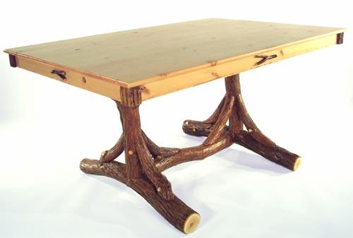 Trestle Dining Table with Pine Top