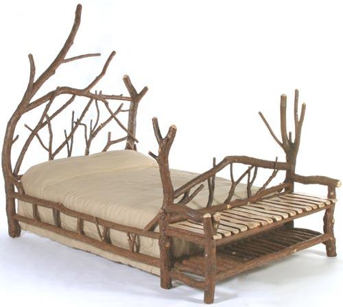 Freestyle Bed with Attached Bench