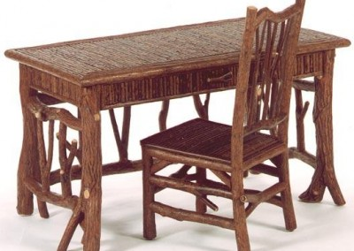Willow Desk with Willow Inlay Top and Sides