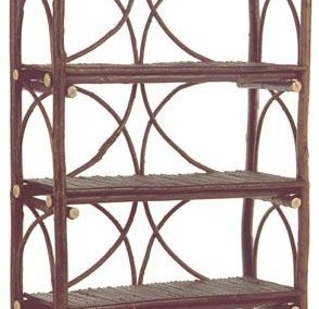 Diamond Back Etagere with 5 Willow Shelves