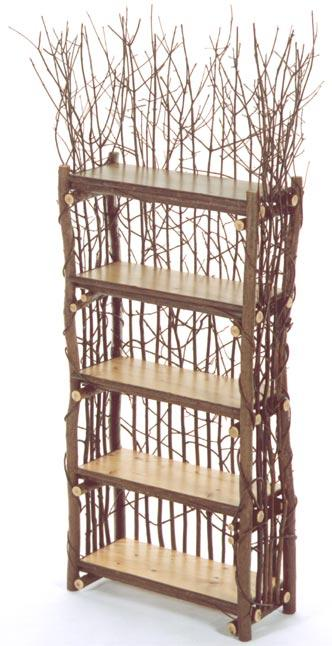 Thickett Etagere with 5 Pine Shelves